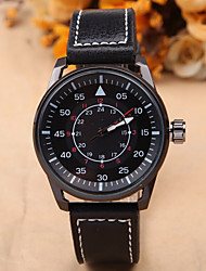 Men's Dress Watch Sport Quartz Analog Wrist Watch PU Band Fashion Watch(Assorted Color) Cool Watch Unique Watch