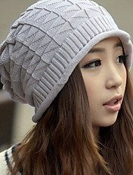 Couple Diamond Knitting Wool Outdoor Tide Hedging Hat