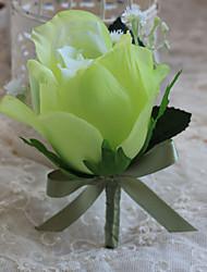Wedding Flowers Free-form Handmade Roses Elegant Grooms Boutonnieres