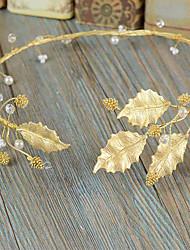 Bride's Leaves Shape Wedding Hair Accessories Headbands Headpieces 1 Piece