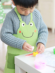 100% Cotton Chiildren Aprons for Kitchen for Study with Frog Style