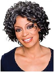 las mujeres afro 8 pulgadas onda corta el pelo rizado sintética peluca negro
