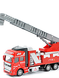 Dibang - Children's toy car fire truck 1:48 back to force alloy car model ladder truck educational toys (3PCS)