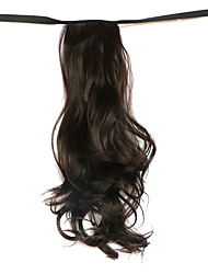 Wig Brown 50CM High-Temperature Wire Strap Style Long Hair Ponytail Colour 6B