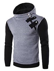 Men's Long Sleeve Hoodie & Sweatshirt,Cotton Patchwork