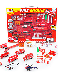 Dibang -68 early childhood simulation alloy car fire combination slide scene model toy carPCS)