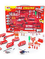 Dibang -68 petite enfance carpcs combinaison d'incendie de voiture en alliage de simulation diapositive modèle de scène de jouets)