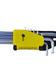 N & S® 9 Sets of Matt Long Hexagonal Plate Hardware Hand Tools