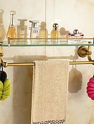 Prateleira de Banheiro / Cesto para Box de Banheiro / Gadget de Banheiro Latão Envelhecido De Parede 55.5*14.6*15.5cm(21.85*5.75*6.1 inch)