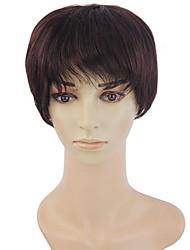 40% human hair wig short hair straight hair wig middle-aged woman temperament Hot