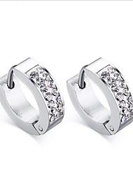 WOMEN Stainless Steel SLIVER Hoop Earrings