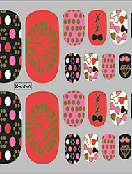 1 pc nail art 3d stickers glitter Ongles autocollants 22 à coller à chaud estampage d'une série de