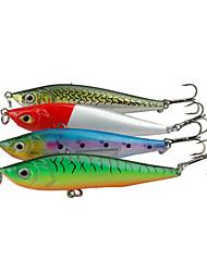 "1 pcs Cebos Pececillo Colores Surtidos g/Onza,85 mm/3-5/16"" pulgada,Plástico duroPesca de baitcasting Pesca al spinning Pesca de Perca"
