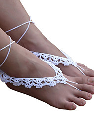 Women's Lace Ankle Bracelet Crochet Anklets Beach Wedding Barefoot Sandals