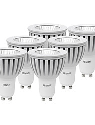 5W GU10 Точечное LED освещение MR16 1 COB 400-450 lm Тёплый белый / Холодный белый Декоративная AC 100-240 V 6 шт.