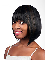High Quality Multi-color Short Straight Woman's Party Synthetic Wigs