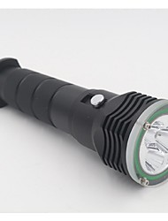 Lights LED Flashlights/Torch LED 4800 Lumens 2 Mode 18650 18350 26650 WaterproofCamping/Hiking/Caving Everyday Use Diving/Boating Water