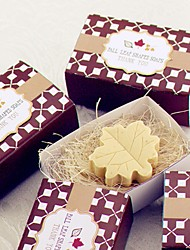 "Paris Love ""Fall in Love"" Leaf-Shaped Soaps Wedding Party Favors"