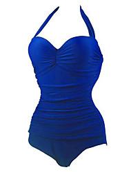 Summer Retro Female's Swimwear Blue