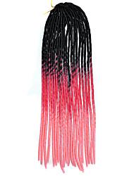 20-Zoll-häkeln weiche Dreadlock havanna mambo Twist Flechthaar ombre Farbe schwarz rose pink mit Häkelnadel