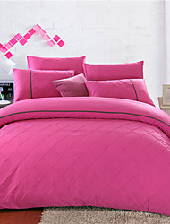 Yuxin®Pure Cotton 4 Piece Princess Lace Cotton Bed Linen Quilt kit   Bedding Set