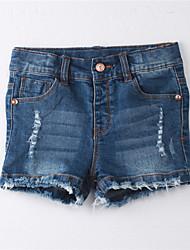Mädchen Rock Gestreift Baumwolle Sommer Blau
