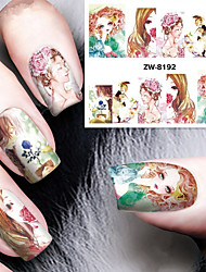Fashion Printing Pattern Water Transfer Printing The Flower Child Lunlun Nail Stickers