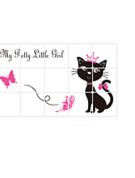3003 Animals Cat Wall Decals Anti-oil Stickers Abstract / 3D Wall Stickers Plane Wall Stickers,pvc 45*75cm