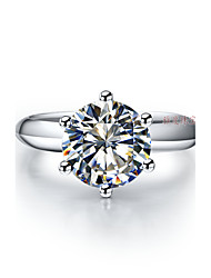 1:1 Customized T Brand Quality 1.5CT Solitaire Finger Ring Engagement Ring SONA Diamond 6Prongs Setting Sterling Silver