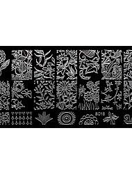 bluezoo retângulo arte do jardim floresta prego stamping (BC-18)
