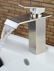 Bathroom Sink Faucets Contemporary Nickel Brushed Waterfall