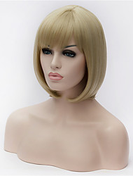 The New Flaxen Hair Old Partial Points Bobo Wig 10 Inch