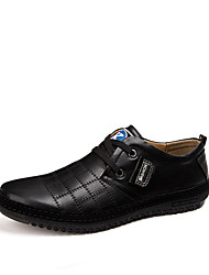 Men's Geuine leather Casual Shoes Lace up Oxfords Shoes