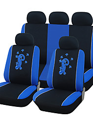 Universal Fit for Car, Truck, Suv, or Van Polyester Car Seat Cover Full Set Full Seat Cover Set (10 Pieces) Blue