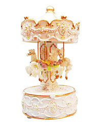 Pottery Gold Creative Romantic Music Box for Gift