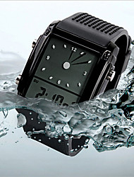 Fashion Sports Men Silicone Waterproof Electronic Watch