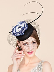 Women's Flax / Silk Headpiece-Wedding / Special Occasion / Casual Hats / Birdcage Veils 1 Piece