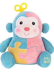 Metoo Microphone Rabbit Plush Toy Monkey  Sunpoo Monkey Mascot Creative Birthday Gift Baby Blue Jigsaw 10.5 Inches