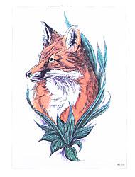 8pcs vente chaude autocollant tatouage temporaire transfert d'eau rouge renard loup waterproof faux hommes de femmes de bras de corps de
