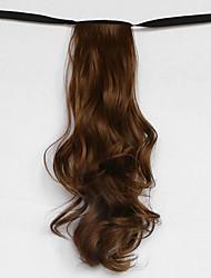 onda de agua marrón tipo de vendaje sintético peluca de pelo cola de caballo (color 12)