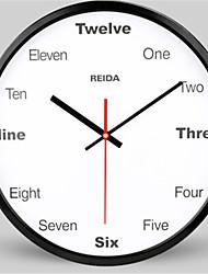 Redonda Moderno/Contemporâneo Relógio de parede,Outros Metal 31.5*31.5*5.5