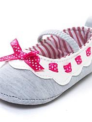 Zapatos de bebé-Planos-Exterior-Algodón-Gris