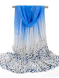 Vintage / Mignon / Soirée / Décontracté Mousseline de soie Femme Écharpe,Imprimé Rectangle