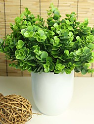 Green Artificial Plants Simulation Plastic Flower Small Grass Eucalyptus Flower Decoration