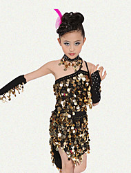 Latin Dance Outfits Children's Performance Spandex / Polyester Sequins Dance Costumes