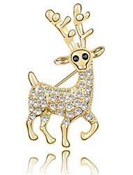 High Quality Crystal Deer Brooch for Wedding Party Lady