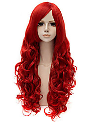 Capless Long Curly Red Color Top Quality Synthetic Wig