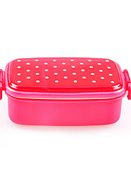 480ML Lovely Dot Single Japanese Style Lunch Box (Random Color)