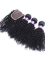 4 Stück Kinky Curly Menschliches Haar Webarten Peruanisches Haar Menschliches Haar Webarten Kinky Curly
