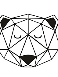 AYA™ DIY Wall Stickers Wall Decals,  Geometric Bear Head  Wall art Type PVC Wall Stickers